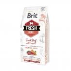 Корм Brit Fresh Beef&Pumpkin Puppy Large Growth&Joints для щенков крупных пород (рост и суставы), с говядиной и тыквой, 2,5 кг