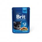 Корм Brit Premium Chicken Chunks for Kitten (влажный) для котят, курица, 100 г
