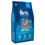 Корм Brit Premium Cat Kitten для котят, с курицей в лососевом соусе, 1,5 кг