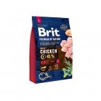 Корм Brit Premium Adult L для собак крупных пород, 3 кг