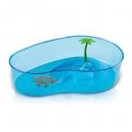 Имак бассейн д/черепах пластик. фигурный VIRGOLA, 40х27х9см (56499)