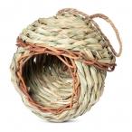 "Triol NATURAL гнездо-домик для птиц из луговых трав ""Избушка"", d 135x145/265 мм"