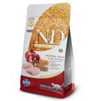 Корм Farmina N&D (Low Grain) Chicken & Pomegranate Adult для кошек с низким содержанием зерна, курица с гранатом, 1,5 кг