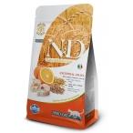 Корм Farmina N&D (Low Grain) Codfish & Orange Adult для кошек с низким содержанием зерна, треска с апельсином, 1,5 кг