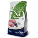 Корм Farmina N&D Lamb & Blueberry Adult беззерновой для взрослых кошек ягненок с черникой, 1,5 кг