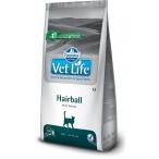 Корм Farmina Vet Life Hairball для кошек, выведение шерстяных комочков, 2 кг