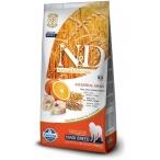 Корм Farmina N&D (Low Grain) Codfish & Orange Adult Maxi для собак крупных пород с низким содержанием зерна, треска с апельсином, 12 кг