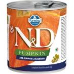 Корм Farmina N&D PUMPKIN, Lamb & Blueberry (консерв.) для собак, ягнёнок с тыквой и черникой, 140 г