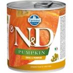 Корм Farmina N&D Pumpkin & Quail (консерв.) для собак, перепел с тыквой, 140 г