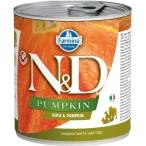 Корм Farmina N&D Pumpkin & Duck (консерв.) для собак, утка с тыквой, 140 г