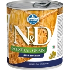 Корм Farmina N&D Ancestral Grain Lamb & Blueberry (консерв.) для собак ягненок с черникой, 140 г