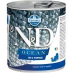 Корм Farmina N&D Ocean Cod & Pumpkin Puppy (консерв.) для щенков, треска с тыквой, 140 г