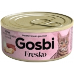 Корм Gosbi Fresko Kitten Tuna, Chicken & Milk для котят, тунец, курица и молоко, 70 г