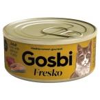 Корм Gosbi Fresko Tuna & Salmon in jelly для кошек, тунец и лосось в паштете, 70 г