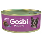 Корм Gosbi Plaisirs Turkey & Tuna для собак, индейка и тунец, 185 г