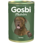 Корм Gosbi Plaisirs Turkey для собак, с индейкой, 400 г