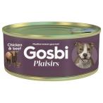 Корм Gosbi Plaisirs Chicken & Beef для собак, курица и говядина, 185 г