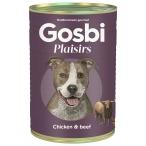 Корм Gosbi Plaisirs Chicken & Beef для собак, курица и говядина, 400 г