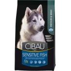 Корм Farmina Cibau Sensitive Fish Medium/Maxi для взрослых собак средних и крупных пород, рыба с рисом, 12 кг