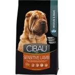Корм Farmina Cibau Sensitive Lamb Medium/Maxi для взрослых собак средних и крупных пород с ягненком, 12 кг