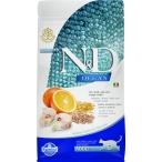 Корм Farmina N&D OCEAN Codfish, Spelt, Oats, Orange низкозерновой для взрослых кошек, треска, спельта, овес и апельсин, 1,5 кг