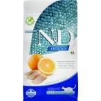 Корм Farmina N&D OCEAN Herring & Orange беззерновой для взрослых кошек, сельдь и апельсин, 300 г