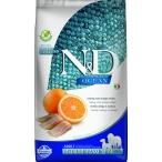 Корм Farmina N&D OCEAN Herring And Orange Medium/Maxi беззерновой для собак средних и крупных пород, сельдь и апельсин, 12 кг