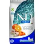 Корм Farmina N&D OCEAN Codfish, Pumpkin And Orange Mini беззерновой для взрослых собак малых пород, треска, тыква и апельсин, 800 г