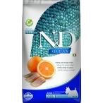 Корм Farmina N&D OCEAN Herring And Orange Mini беззерновой для взрослых собак малых пород, сельдь и апельсин, 7 кг