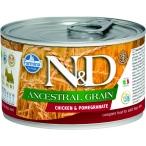 Корм Farmina N&D ANCESTRAL GRAIN Chicken & Pomegranate (консерв.) для собак курица с гранатом, 140 г