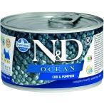 Корм Farmina N&D OCEAN Cod & Pumpkin (консерв.) для собак, треска с тыквой, 140 г