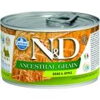 Корм Farmina N&D ANCESTRAL GRAIN Boar & Apple (консерв.) для собак кабан с яблоком, 140 г