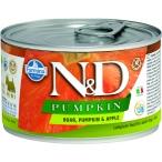 Корм Farmina N&D PUMPKIN, Boar & Apple (консерв.) для собак, кабан с тыквой и яблоком, 140 г