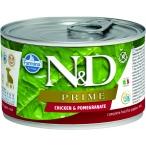 Корм Farmina N&D PRIME Chicken & Pomegranate Puppy (консерв.) для щенков, курица с гранатом, 140 г