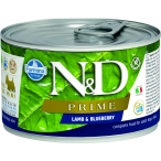 Корм Farmina N&D PRIME Lamb & Blueberry (консерв.) для собак, ягнёнок с черникой, 140 г