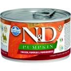 Корм Farmina N&D PUMPKIN, Chicken & Pomegranate (консерв.) для собак, курица с тыквой и гранат, 140 г