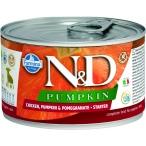 Корм Farmina N&D PUMPKIN, Chicken & Pomegranate Starter Puppy (консерв.) для щенков с 3х-недельного возраста, курица с тыквой и гранатом, 140 г