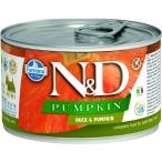 Корм Farmina N&D PUMPKIN Duck & Pumpkin (консерв.) для собак, утка с тыквой, 140 г