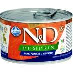 Корм Farmina N&D PUMPKIN, Lamb & Blueberry Puppy (консерв.) для щенков, ягнёнок с тыквой и черникой, 140 г