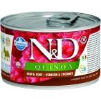 Корм Farmina N&D QUINOA Venison & Coconut (консерв.) для собак, оленина с кокосом, 140 г