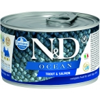 Корм Farmina N&D OCEAN Trout & Salmon (консерв.) для собак, форель с лососем, 140 г