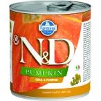 Корм Farmina N&D PUMPKIN Quail & Pumpkin (консерв.) для собак, перепел с тыквой, 285 г