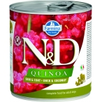 Корм Farmina N&D QUINOA Duck & Coconut (консерв.) для собак, утка с кокосом, 285 г
