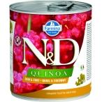 Корм Farmina N&D QUINOA Quail & Coconut (консерв.) для собак, перепел с кокосом, 285 г