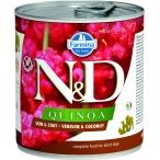 Корм Farmina N&D QUINOA Venison & Coconut (консерв.) для собак, оленина с кокосом, 285 г