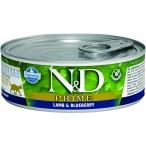 Корм Farmina N&D PRIME Lamb & Blueberry (консерв.) для кошек, ягнёнок с черникой, 80 г