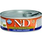 Корм Farmina N&D PUMPKIN, Lamb & Blueberry (консерв.) для кошек, ягненок с тыквой и черникой, 80 г