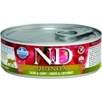 Корм Farmina N&D QUINOA Duck & Coconut (консерв.) для кошек, утка с кокосом, 80 г