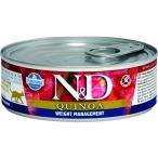 Корм Farmina N&D QUINOA Weight Management (консерв.) для кошек, контроль веса, 80 г
