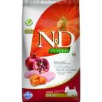 Корм Farmina N&D PUMPKIN Chicken & Pomegranate Adult Mini беззерновой для взрослых собак мелких пород, курица с гранатом и тыквой, 2,5 кг
